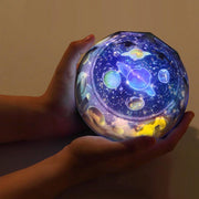 Night Light Starry Sky Earth Rotate Projector Lamp