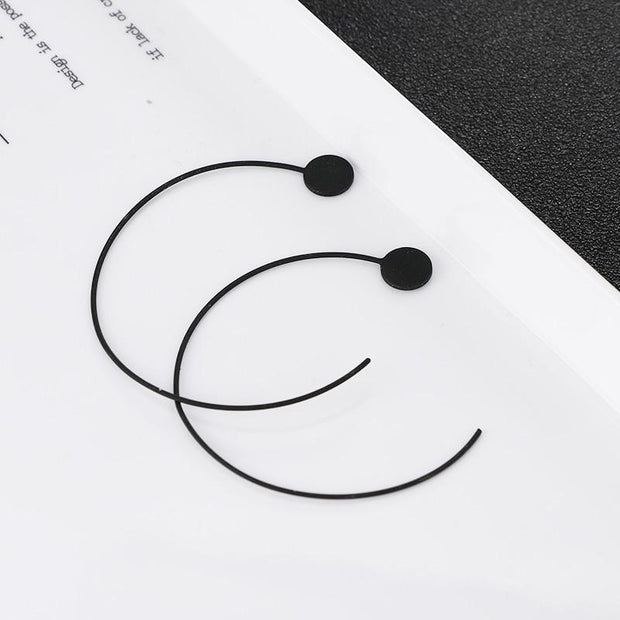 Big Circle Hoop Earrings