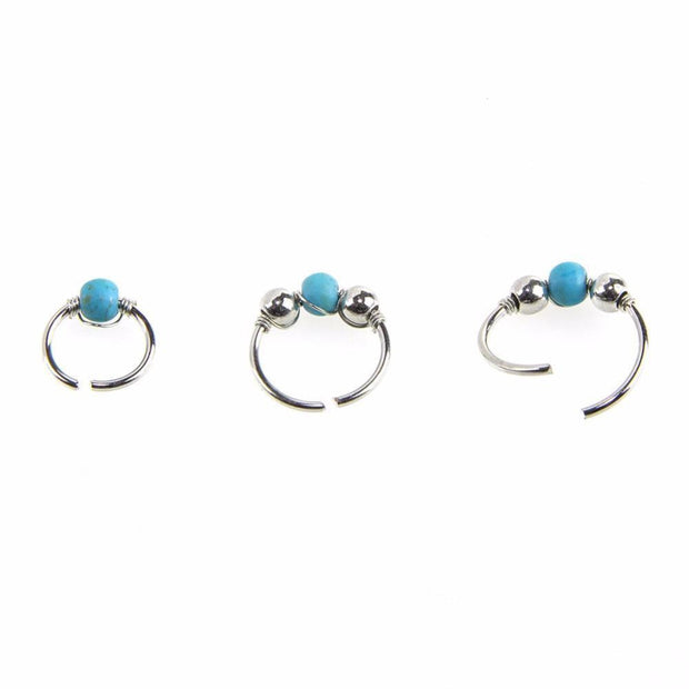 Retro Round Beads Nose Ring