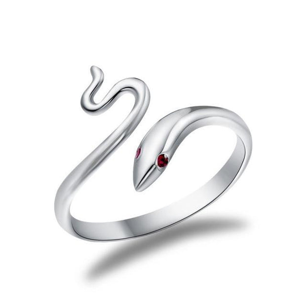 Delicate Red Eyes Snake Ring
