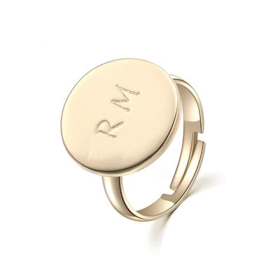 Personalized  Adjustable Initial Ring