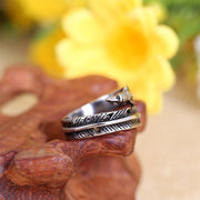 Alloy Unique Feather rings