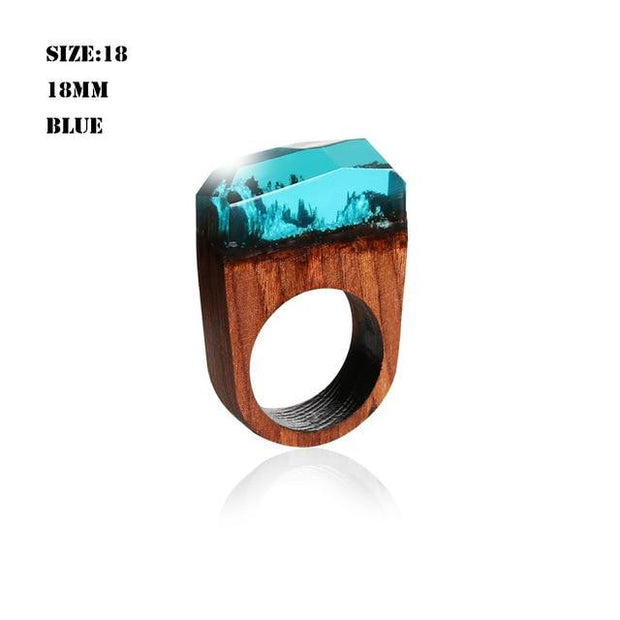 Magic Landscape Punk Wooden Ring