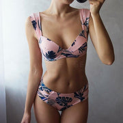 Tropical Palm Leaf Print Swimsuit