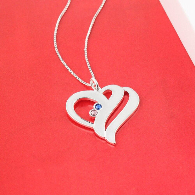 Heart Shape Name Necklace