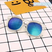 Kids Transparent Box Color Reflective Sunglasses