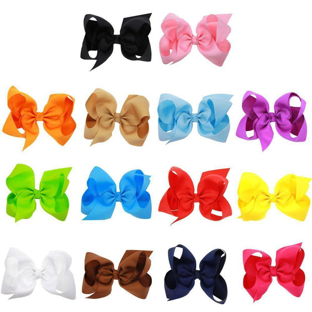 Big Bow Hairpins for Baby Girls
