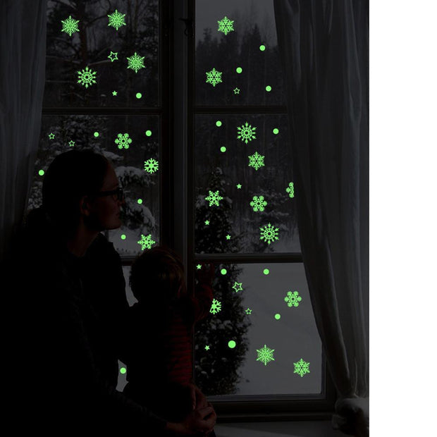 Chtistmas Glow Wall Stickers