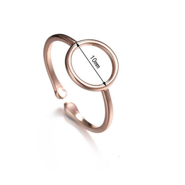 rose gold charm Ring