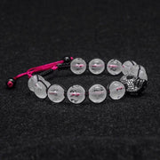 Six Words Of The Truth 10MM Crystal Beads Skull Bracelets