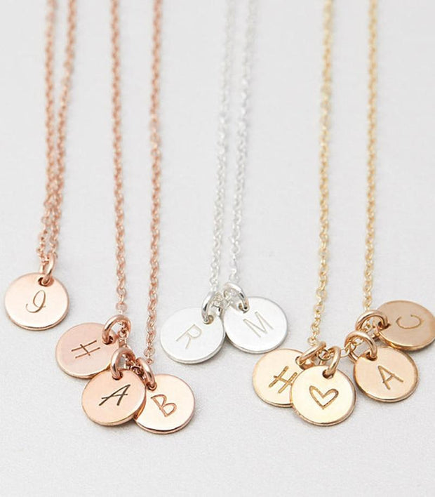 Personalized Letters Coins Necklace