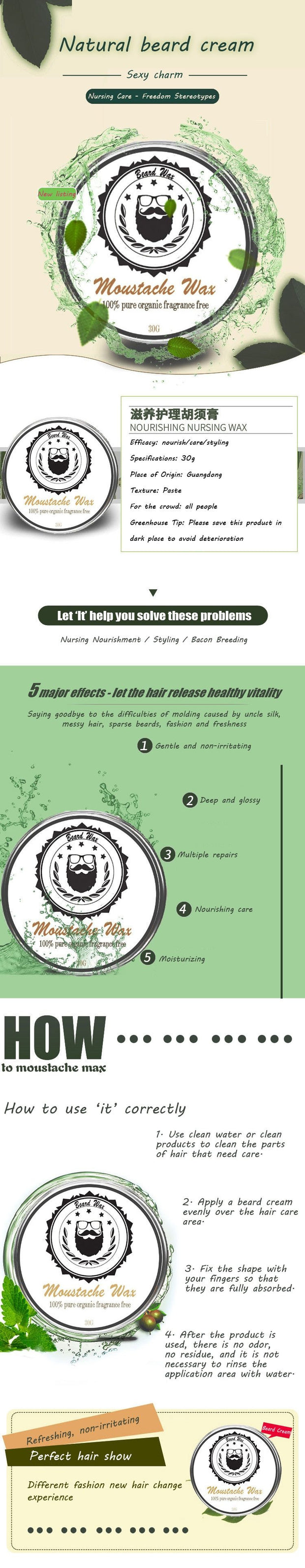Nourishing Care Wax Fixing Beard