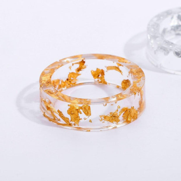 Bague Biker Transparent Resin Ring