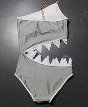 Sexy conjoined shark mouth swimwear