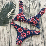 Tropical Bikini Ruffled Brazilian Swimwear