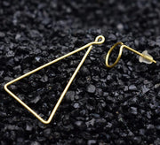Round &Triangle Earrings