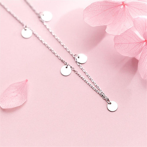 925 Silver Coin Pendant Necklace