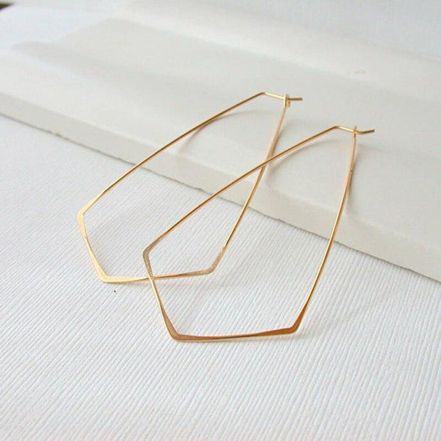 Hammered Gold Hoop Earrings