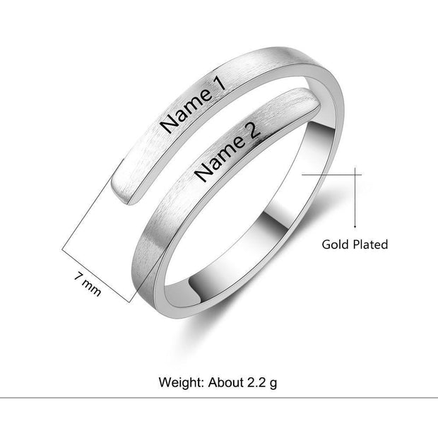 Personalized Engraved Name Ring