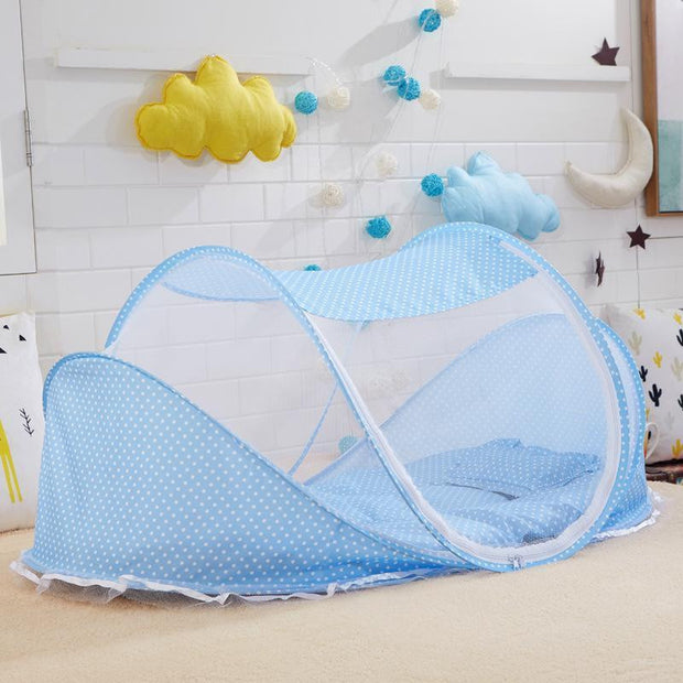 Baby Crib With Pillow