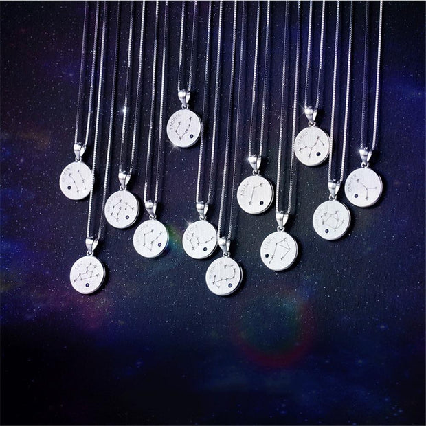 925 Silver Constellation Coin Necklace
