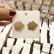 Square Shaped Stud Earrings