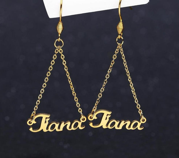 Personalized Name Drop Earrings