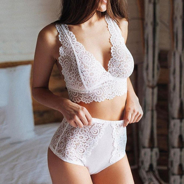 Embroidery bralette erotic lingerie