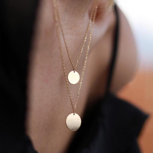 14K Gold Filled  Coin Necklace