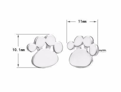 Silver Baby Kids Animal Earrings For Women Female