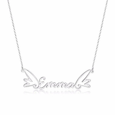 Wings Name Necklace