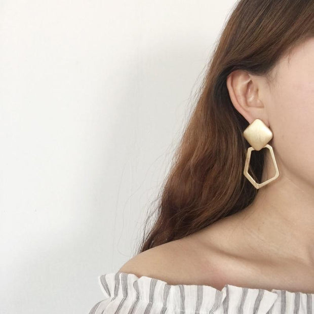 Geometric Metallic Earrings