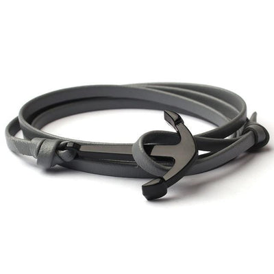 Hooks Multilayer Brown Leathers Bracelets