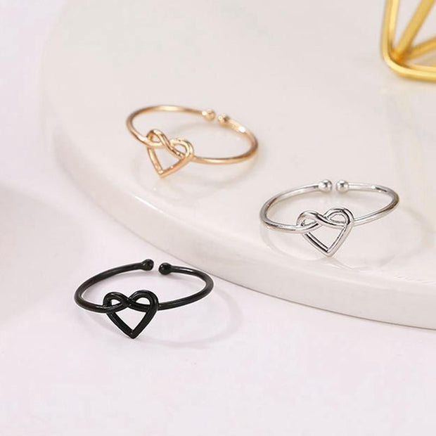 Alloy Love Heart Rings