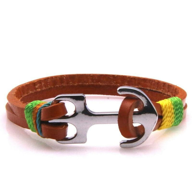 Charm Survival Leather Bracelet