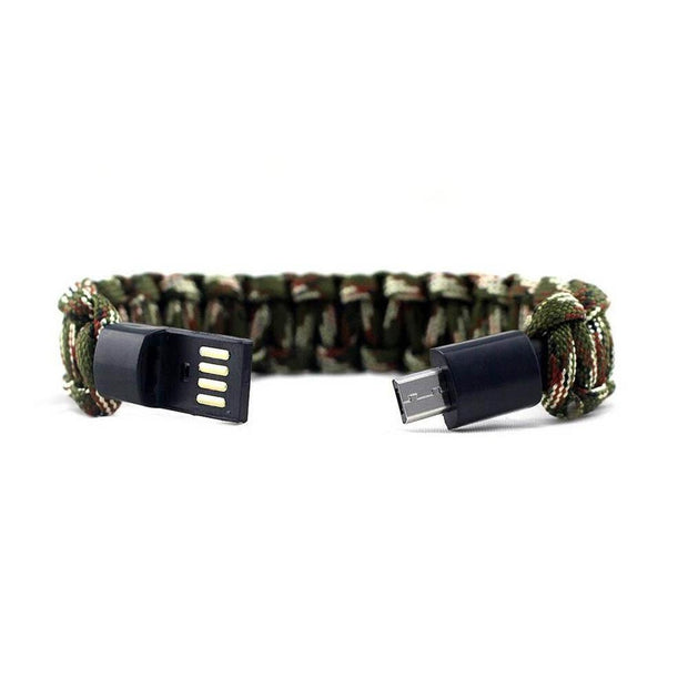 USB Cable Bracelet Charging for iPhone & For Samsung