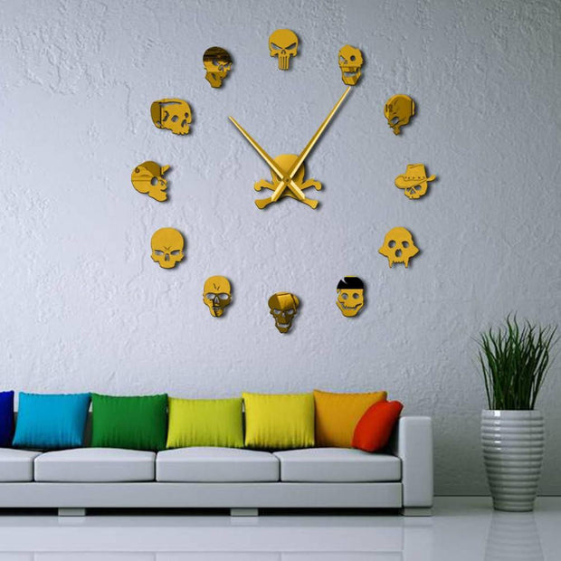 Zombie Skull Head Wall Decoration Clock