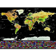 1pcs Deluxe Erase Black World Map