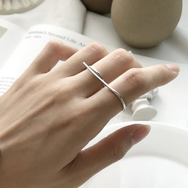 S Shape Double Ring