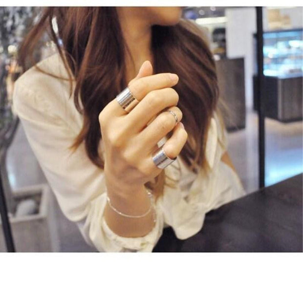 Women's Fashion Concise Three-piece set Ring