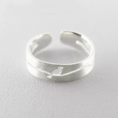 Sterling Silver Dwaring Hollow Bird Ring