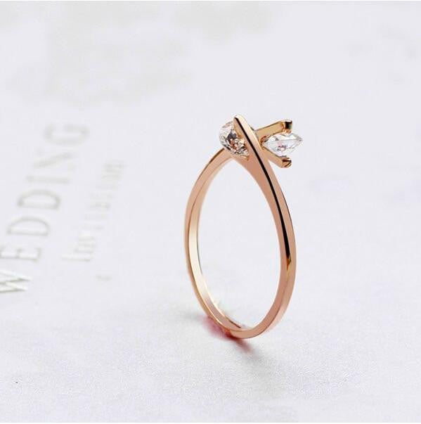 Zircon Open Finger Rings
