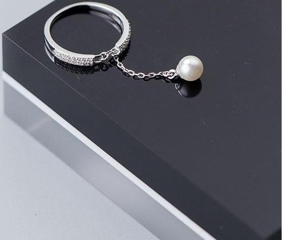 Pearl Charm Ring