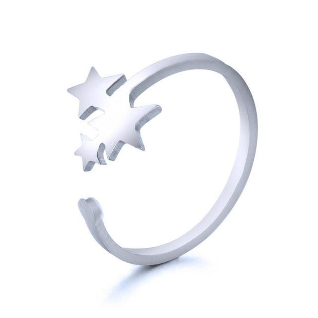 Classic Star Golden Silver Ring