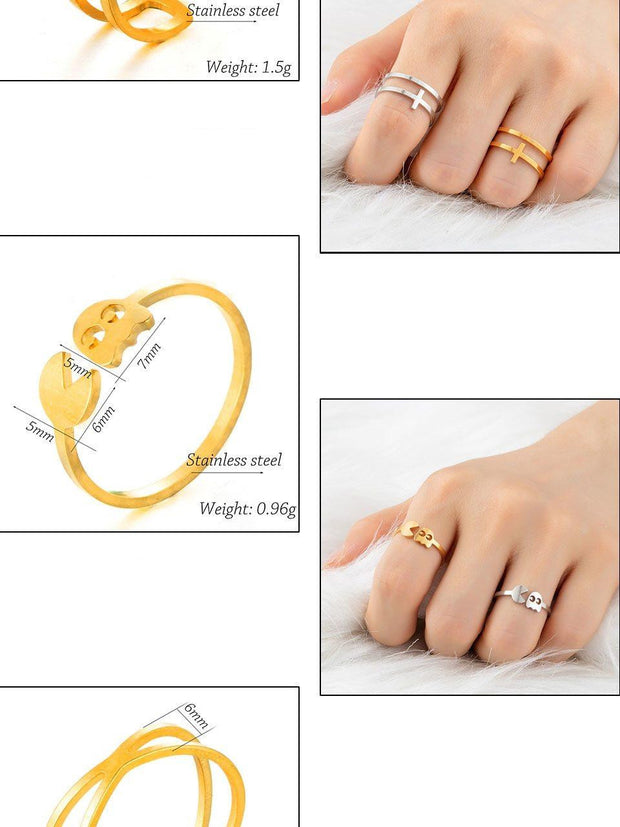 Golden Stainless Steel Ring
