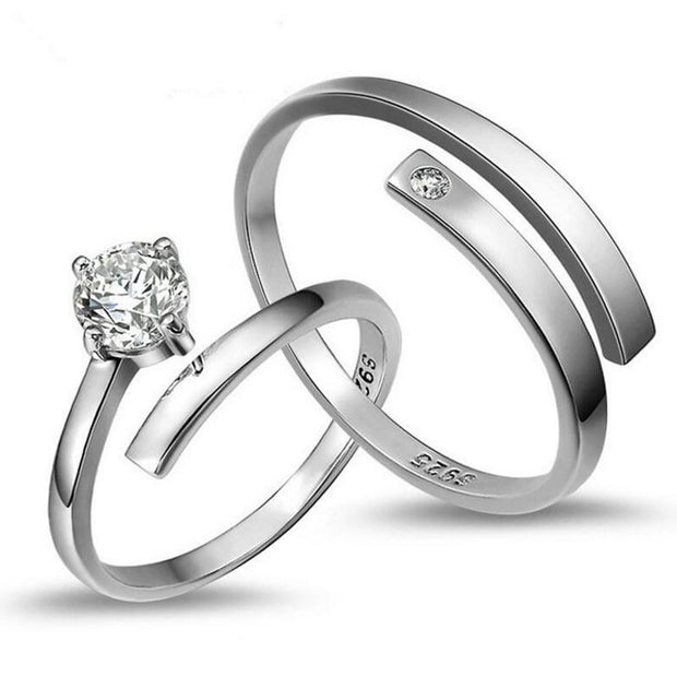 Crystal Wedding Couple Ring