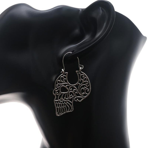 Skull Stud Earrings New Steampunk