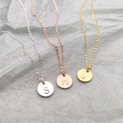 Letters Disk Necklace
