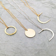 Dainty Moon Phase Necklaces
