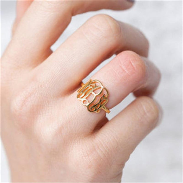 Monogram Initials Ring